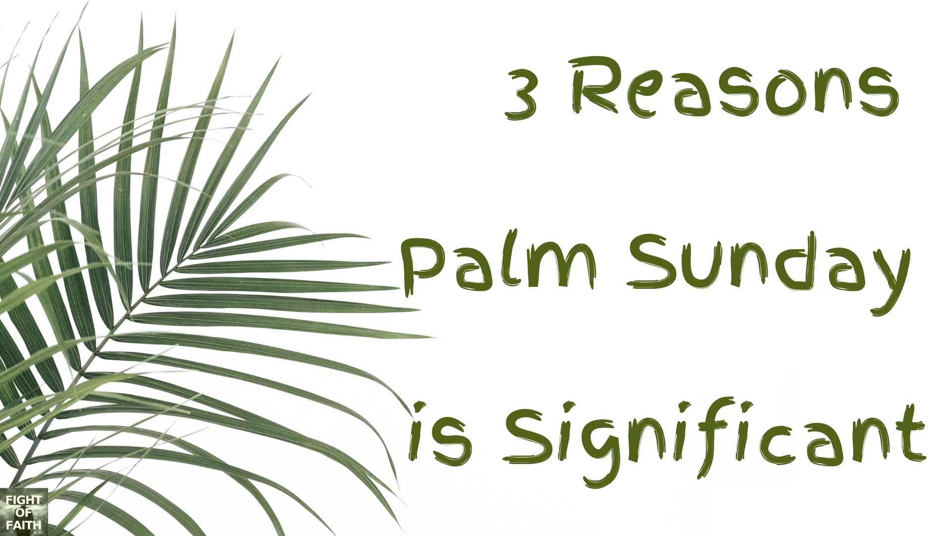 3 Reasons Palm Sunday is Significant – The Fight of Faith - photo#8